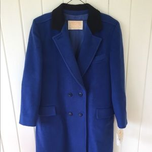Vtg NWTS PENDLETON WOOL TRENCH PEA COAT Sz14